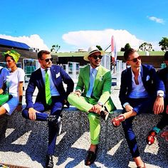 Green and Blue at Pitti Uomo 86