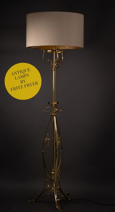 Antique Lamps hand restored by Fritz Fryer Piano, Standard Lamps, Desk Light, Antique Lamps, Led, Modern Table, Hand Blown Glass, Retro, Modern Lighting