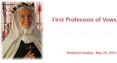 Carmelites of Terre Haute Sister Christine's First Profession