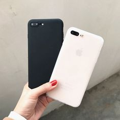 Black & white solid frosty iphone cases | iphone 6/7/plus