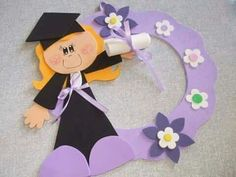 Rapor Graduation Crafts, Kindergarten Graduation, Graduation Decorations, Graduation Day, Foam Crafts, Diy And Crafts, Crafts For Kids, Educational Toys For Toddlers, Activities For Kids