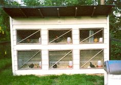 I love the windows for the chickens.  Chicken House Plans: Chicken Coop Design Plans