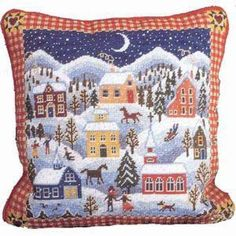 Needlepoint Kits | Christmas Needlepoint Kits Winter Village