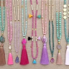 Instagram : @lovesaffect #lovesaffect #tassel #tasselnecklace #necklace #necklaces #color #pretty #jewelry