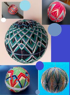 Temari balls, very decorative