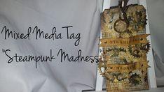 Mixed Media Tag-Steampunk Madness