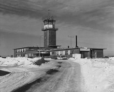 Loring AFB (Maine) - Control Tower and Base Ops in Winter