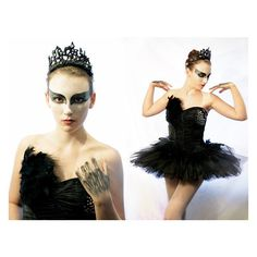Black Swan Halloween Costume ❤ liked on Polyvore featuring costumes