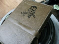 leather handprinted journal customized for you sleepy by inblue, $25.00