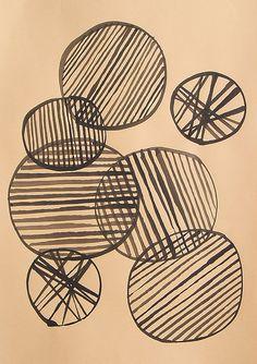 Circles and Lines Textile Pattern Gravure Illustration, Illustration Photo, Illustrations, Motifs Textiles, 4 Wallpaper, Tinta China, Circle Art, Pattern Art, Batik Pattern