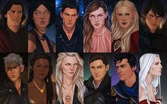 ACOTAR and Throne of Glass Heroes by Merwild