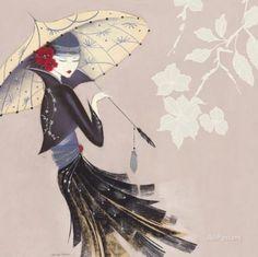Fleur de lotus Poster par Marilyn Robertson sur AllPosters.fr