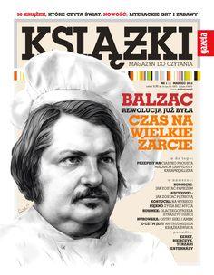 Honoré de Balzac rys. Piotr Leśniak Książki. Magazyn do Czytania nr 4
