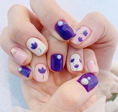 • Nail Design 튤립네일로 기분전환하기! : 네이버 블로그 Cute Nail Art, Cute Nails, Gel Nagel Design, Gel Nails, Nail Polishes, Nagel Gel, Short Nails, Nails Inspiration, Nail Designs