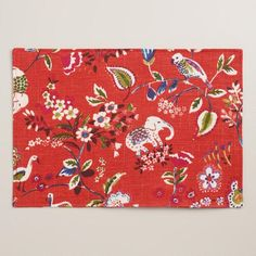 One of my favorite discoveries at WorldMarket.com: Red Elephant Placemats Set of 4