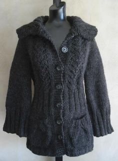 #77 Vine Lace Top-Down Cardigan (Knitting-Beginner)