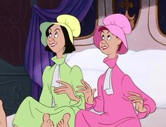 ugly stepsisters...2 of my least fav Disney characters...
