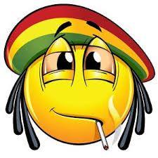 Emoticono jamaicano fumando