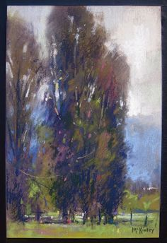 Pastel by Richard McKinley with watercolor underpainting