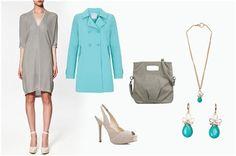#Look básico en gris con pinceladas de color en celeste de #Zara, @MANGO y #Blanco