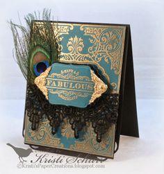 JustRite Papercraft October Release- Elegant Corners Labels Four Cling Background Stamp