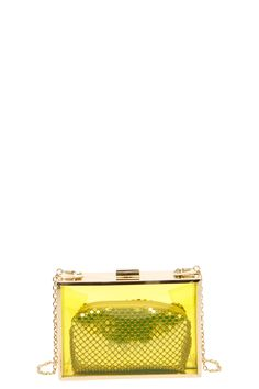 Samantha Transparent Box Clutch With Contrast Purse at boohoo.com