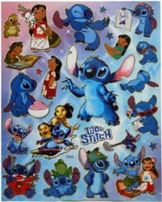 Disney - Lilo And Stitch A4 Sheet Of Stickers:Amazon:Toys & Games