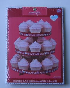 Wilton Cupcake Stand Valentines Day 3 Tier 12 x Table Decor Wilton Cupcake Stand, Wilton Cupcakes, Christmas Cupcakes Decoration, Christmas Tree Cookies, Wedding Shower Cupcakes, Birthday Cupcakes, Healthy Cupcakes, Baking Items, Savoury Cake