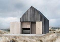 Strandminimalisme kan man kalde det. Den lille genistreg i cedertræ ligger ved Svallerup Strand og fungerer både som gæste- og bådehus.
