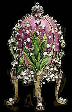Faberge Lilies of the Valley Egg 1898. from Nicholas II to Empress Alexandra Fyodorovna .Art Nouveau