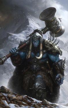 Semigigante masculino bárbaro