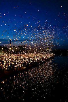 Floating  lanterns, Thailandia
