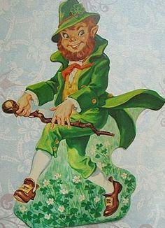 Vintage Irish Leprechaun Die Cut