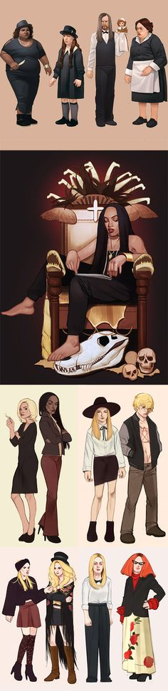 This is a compilation of my AHS Coven fanarts.