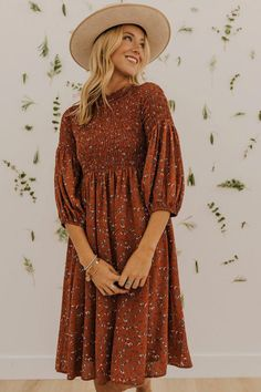 A floral dress that is perfect for you! Shop our cute floral dresses to find one that works perfectly for you! Best online dresses at our cute boutique for women! Fall Floral Dress, Cute Floral Dresses, Elegant Dresses, Boho Dress, Pretty Dresses, Women's Dresses, Casual Dresses, Dresses For Work, Dresses Online
