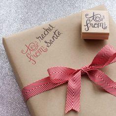 Christmas Calligraphy Gift Tag Stamp – the chatty press