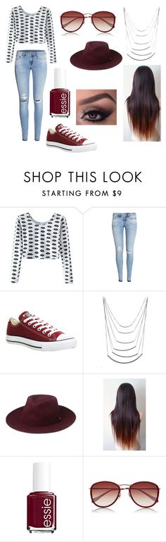 """Untitled #48"" by shannbb ❤ liked on Polyvore featuring H&M, Converse, Whistles, Essie, Oliver Peoples, women's clothing, women's fashion, women, female and woman"