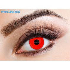 1ebac532b4d Eyecasions Monthly Coloured Contact Lenses (Red Devil) Color Contacts For  Halloween