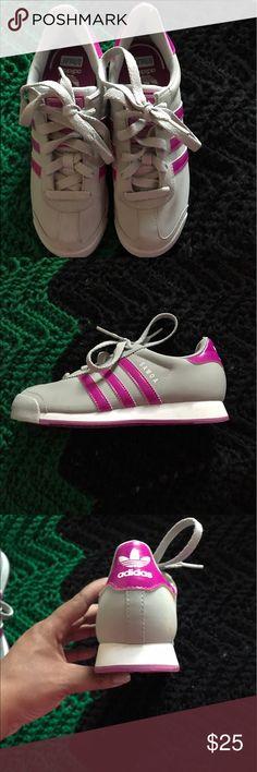Adidas Samoa's Adidas Samoa's Gray and Purple worn once Adidas Shoes Sneakers