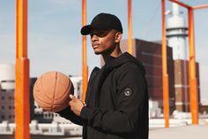 softshell cap jacket basketbal orange colourblock street