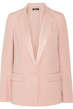 Satin-trimmed crepe blazer #jacket #covetme #dkny