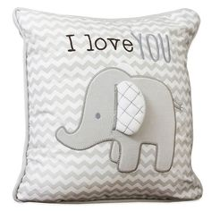 Buy Wendy Bellissimo™ Mix Match Elephant Chevron Throw Pillow from Bed Bath Beyond - Baby Nursery Today Elephant Baby Rooms, Elephant Pillow, Baby Boy Rooms, Baby Boy Nurseries, Elephant Themed Nursery, Neutral Nurseries, Elephant Nursery Bedding, Grey Elephant, Nursery Neutral