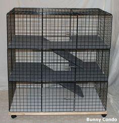 New Indoor Large Bunny Condo Rabbit Cage Pen Hutch | eBay