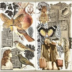 I want to share with you some of the amazing vintage collage art of Connie Rose, and to share a bit about who she is, if you've never heard of her. Collage Book, Create Collage, Collage Artists, Mixed Media Collage, Collage Artwork, Mix Media, Collages, Art Journal Pages, Junk Journal