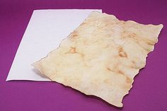 How to make parchment for writing on. Great idea for Harry Potter fans for scroll and Marauder's Map making.
