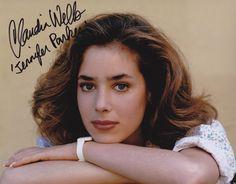 Claudia Wells, who plays Jennifer Parker, Marty McFly's girlfriend in the first Back to the Future film, and it was replaced by Elisabeth Shue in 1989 and 1990.