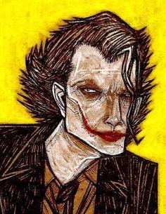 Joker Heath Ledger Dark Knight Batman comic book pop by MATTYCIPOV, $16.00