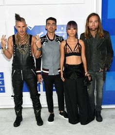 DNCE: MTV Video Music Awards 2016 Red Carpet Arrivals