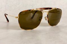 Ray-Ban Explorer Tortuga by Bausch & Lomb Vintage Sunglasses – New Old Stock – Full Set – Made in the USA Chanel, Vintage Sunglasses, Full Set, Etsy Vintage, Ray Bans, Explore, Usa, My Style, Classic