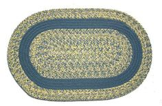 Oval Braided Rug (2'x3'): Williamsburg Blue, Yellow & Cream - Williamsburg Blue Band by Stroud Braided Rugs. $59.00. Indoor or outdoor use on any surface (wood, tile, brick, etc). Reversible and fade resistant (color goes all the way through each fiber, not just on top). Durable, high-quality, long-lasting material. Hand-crafted in North Carolina. Stain resistant and machine washable (lay flat to dry). This high-quality rug is hand-crafted by American workers at St...